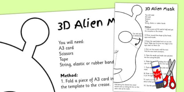 KS2 Literacy Speaking and Listening Alien Mask - mask, alien