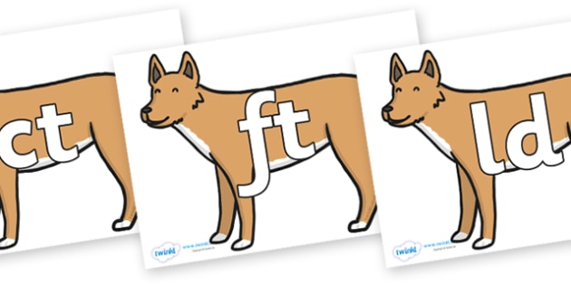 Final Letter Blends on Dingo - Final Letters, final letter, letter blend, letter blends, consonant, consonants, digraph, trigraph, literacy, alphabet, letters, foundation stage literacy