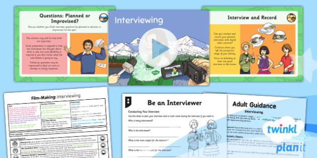 PlanIt - Computing Year 6 - Film-Making Lesson 4: Interviewing Lesson Pack - movies, documentary, filming, video, camera, movie maker, digital devices