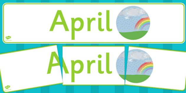 April Display Banner - april, display banner, display, banner, months, year