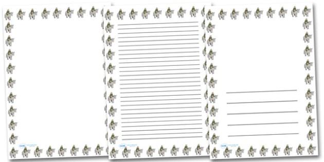 Injured Soldier Donkey Portrait Page Borders- Portrait Page Borders - Page border, border, writing template, writing aid, writing frame, a4 border, template, templates, landscape