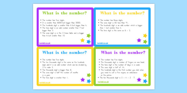 Place Value Riddle Challenge Cards - australia, place value