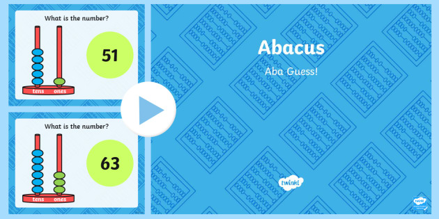 Place Value Abacus Activity PowerPoint Tens and Ones - activity