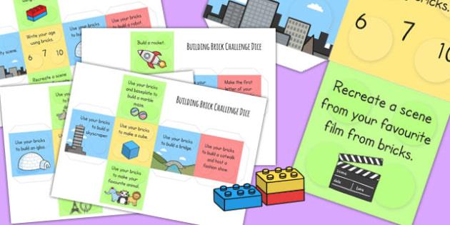 Block Building Challenge Dice Net - challenges, games, block building, toys