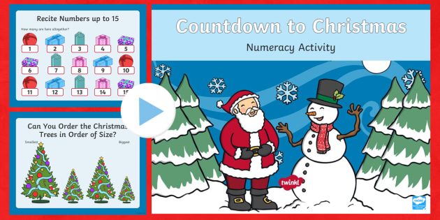 Countdown to Christmas Numeracy PowerPoint