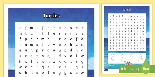 Australian Animals Years 3-6 Turtles Word Search-Australia - Australian Animals, reptiles, cloze passages, activity sheets, word search, research, fast finisher,