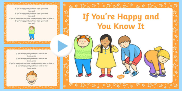 If You're Happy and You Know It Song PowerPoint
