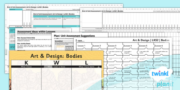 PlanIt - Art LKS2 - Bodies Unit Assessment Pack - planit, art, lks2, bodies, unit, assessment, pack