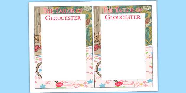 The Tailor of Gloucester Editable Note - tailor, gloucester, editable