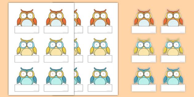 Superb Owl Themed Self-Registration Labels - superb owl, self-registration, labels, display, super bowl