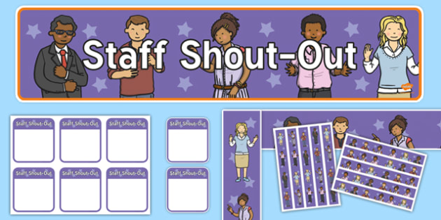 Staff Shout Out Staff Room  Display Pack