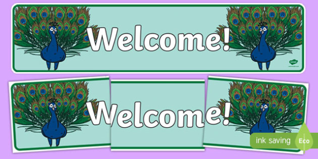 Proud Peacock Welcome Display Banner
