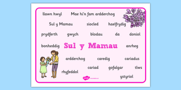 Mat Geiriau Sul Y Mamau - Mother's Day, mum, family, celebrations