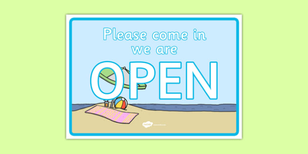 Travel Agents Open Sign - Travel agent, holiday, travel, role play, open, closed, Opening Times, open, holidays, agent, booking, plane, flight, hotel