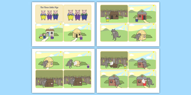 The Three Little Pigs Story Sequencing - the three little pigs, three little pigs story sequencing, three little pigs story, 3 little pigs, story