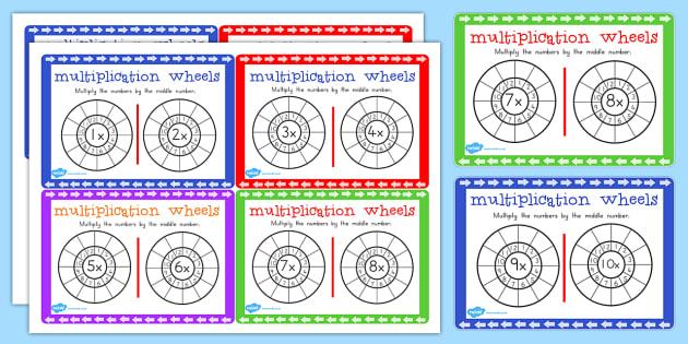Multiplication Wheels Maths Challenge Cards - australia, maths