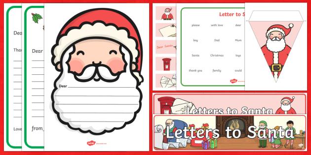 Dear Santa Resource Pack - santa, letter writing, letters
