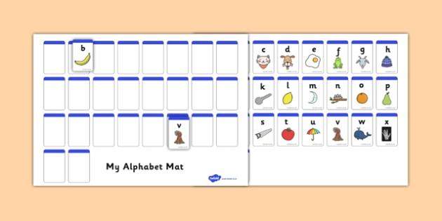 AZ Alphabet Mat Cut and Stick Activity - a-z, alphabet mat, cut and stick, cut, stick, activity