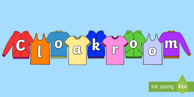 Cloakroom on Clothing Display Cut Outs - cloakroom, display, cut
