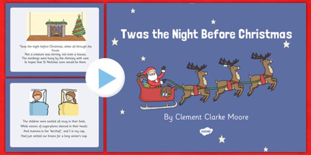 Twas the Night Before Christmas Sensory Poem PowerPoint - twas the night before christmas, sensory poem, poem, sensory, powerpoint