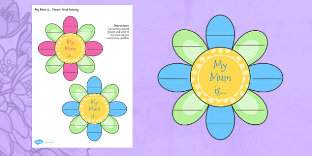 Mothers Day Flower Petal Activity - activities, mothering Sunday