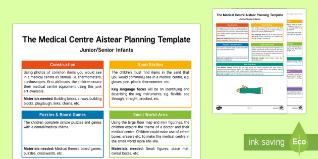 The Medical Centre Planning Template