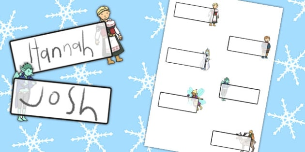 The Snow Queen Editable Self Registration - edit, labels, visual