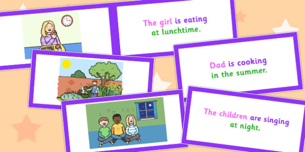 Picture Description Cards Who What Doing When - cards, who, what