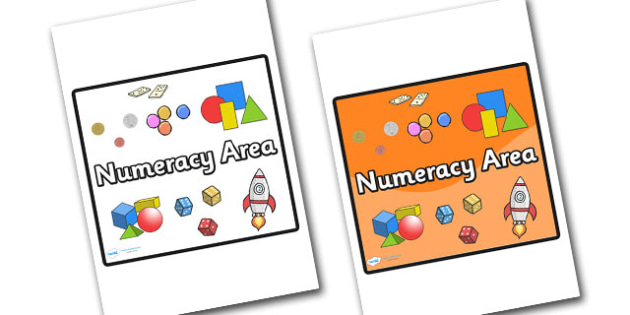 Numeracy Area Sign - sign, display sign, area display sign, area sign, area, classroom areas, school areas, classroom area signs, topic signs, topic area signs