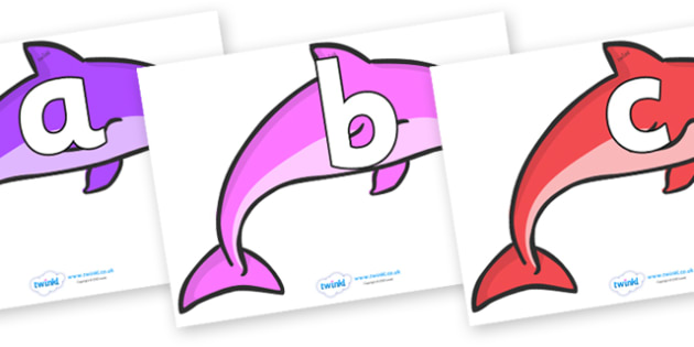 Phoneme Set on Dolphins (Multicolour) - Phoneme set, phonemes, phoneme, Letters and Sounds, DfES, display, Phase 1, Phase 2, Phase 3, Phase 5, Foundation, Literacy