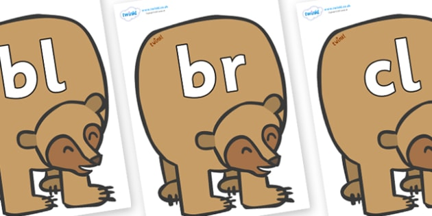 Final Letter Blends on Brown Bear to Support Teaching on Brown Bear, Brown Bear - Final Letters, final letter, letter blend, letter blends, consonant, consonants, digraph, trigraph, literacy, alphabet, letters, foundation stage literacy
