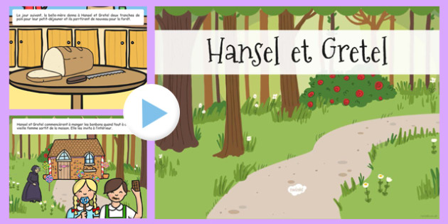 Hansel and Gretel Story PowerPoint French - french, hansel, gretel, story, powerpoint, hansel et gretel