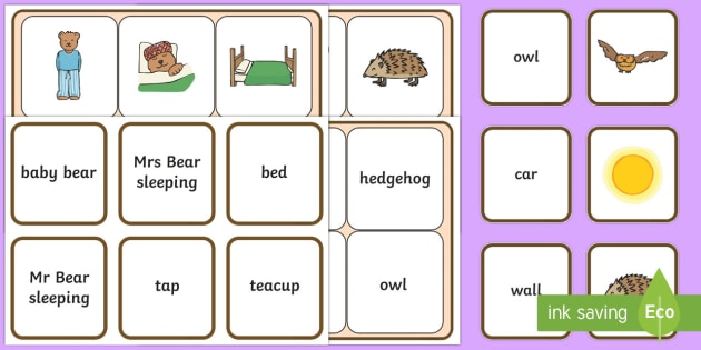 Peace at Last Matching Cards and Board - peace at least, peace at last picture matching game, peace at last matching activity, sen storybook resources, sen