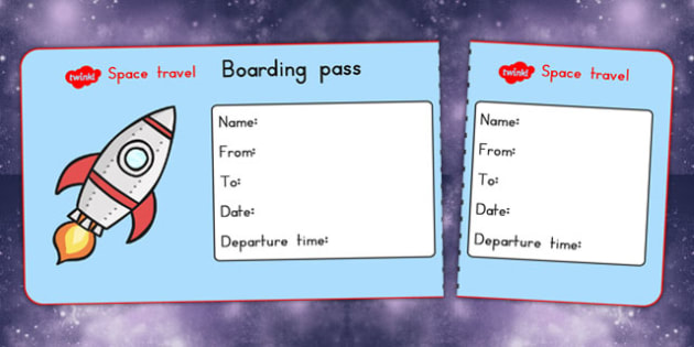 Space Travel Agency Role Play Tickets - australia, font, space