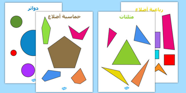 الأشكال المسطحة المنتظمة والغير منتظمة - الأشكال المسطحة، الأشكال