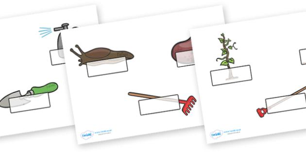 Self-Registration (Editable) to Support Teaching on Jasper's Beanstalk - Jasper, Jasper's Beanstalk, bean, sprayed, watered, slugs, rake, found, beanstalk, planted, Self registration, register, editable, labels, registration, child name label, printa