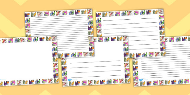 Family Page Borders Landscape - page borders, family, landscape