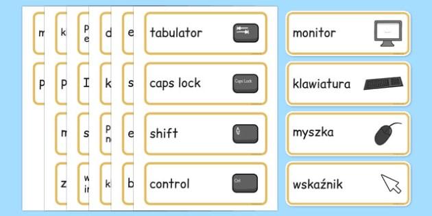 Słowa kluczowe Informatyka po polsku - komputery, IT