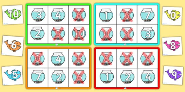 Number Bonds to 10 Bingo - Number bonds, Counting to 10, Adding to 10, Bingo Counting, numeracy, numbers, number patterns, number bonds, bingo, bonds to 10, rainbow facts