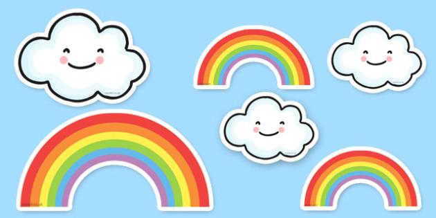 Proud Cloud Display Pack Proud Cloud Display Cut Outs - proud cloud, cut outs