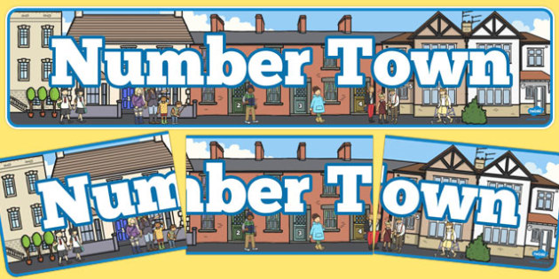 Number Town Display Banner - display banner, display, banner