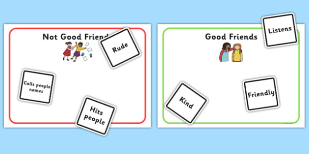 Characteristics Of A Good Friend Game - ourselves, friends, games