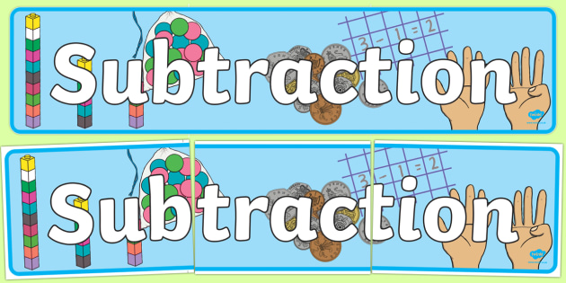 Subtraction Display Banner