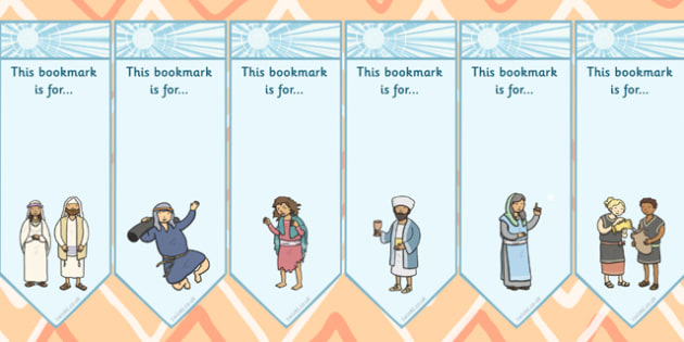 The Miracles of Jesus Bible Stories Editable Bookmarks - edit
