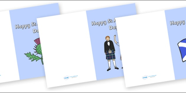 St Andrews Day Cards - St Andrews Day, St. Andrew's Day, Saint Andrew, Happy St. Andrew's Day, cards, card, flashcard, letter, patron, saint, Scotland, Scottish, national day, cultures, countries, november, Tartan