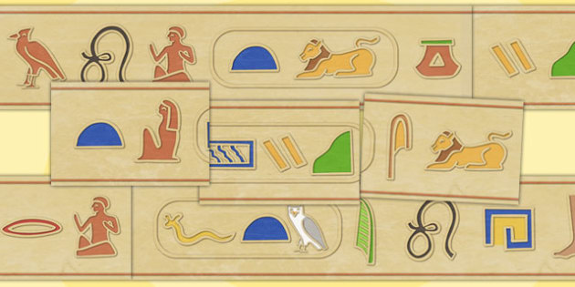 Ancient Eygyptian Hieroglyphs Display Runner - egypt, heiroglyphs