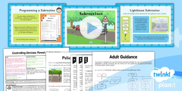 PlanIt - Computing Year 5 - Controlling Devices Flowol Lesson 5: Subroutines Lesson Pack