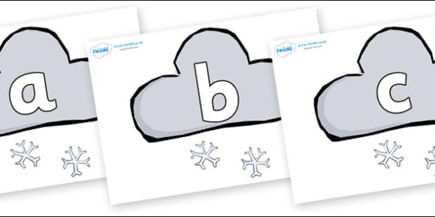 Phoneme Set on Weather Symbols (Snow) - Phoneme set, phonemes, phoneme, Letters and Sounds, DfES, display, Phase 1, Phase 2, Phase 3, Phase 5, Foundation, Literacy