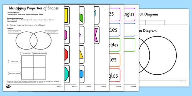 Year 5 Regular and Irregular Shapes Sorting Activity - year 5, regular, irregular, shapes, sorting, activity
