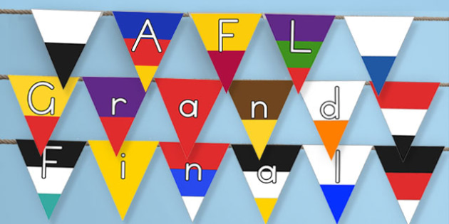 AFL Australian Football League Grand Final Display Bunting - australian, sport, event, national, competition, celebration, images, classroom, decoration
